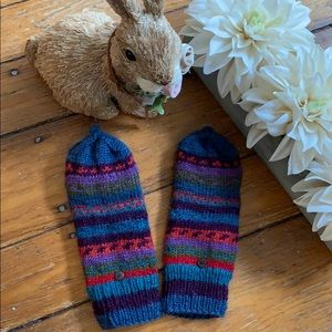 Wool Mittens With Open Fingers